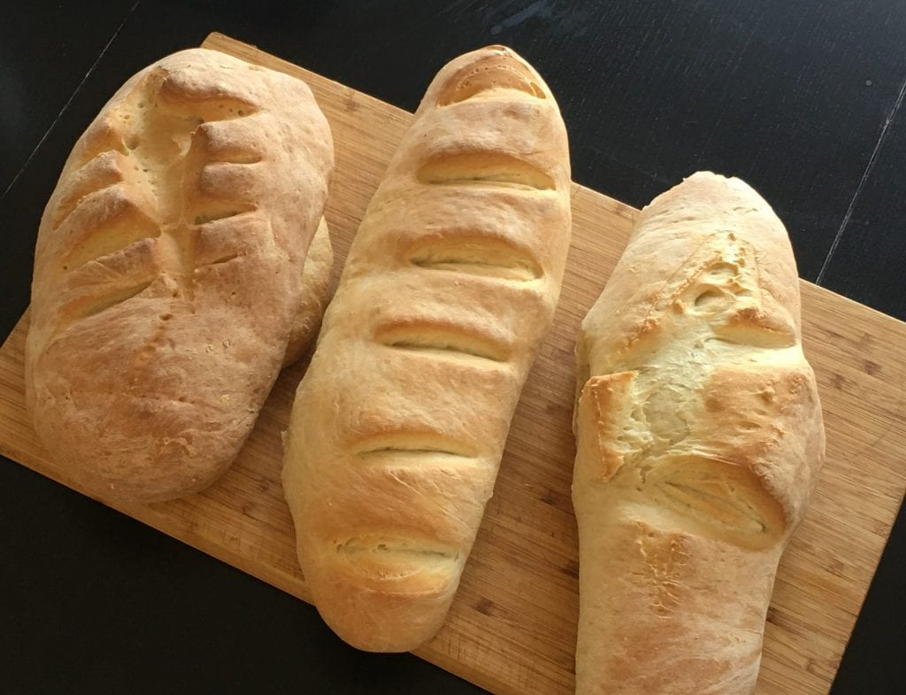 French Loaves handmade by kids
